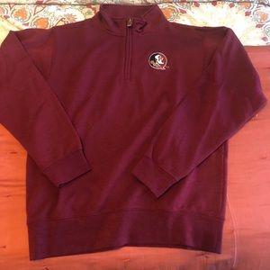FSU Fleece 3/4 Zip Pullover NWOT